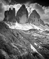 Clouds on the Tre Cime of Lavaredo